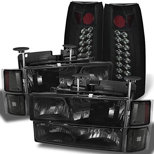 For C10 C/K Pickup Smoke Headlights + Corner + Bumper Signal + Smoke Philips Illumines LED Tail Lights