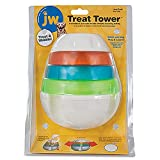 JW Pet Company 43506 Treat Tower Toys for Pets, Large, White/Rings of Blue, Orange, Green