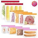 sherry Reusable Sandwich Bags,10 Pack Reusable Food Storage Bags Bread Box Set