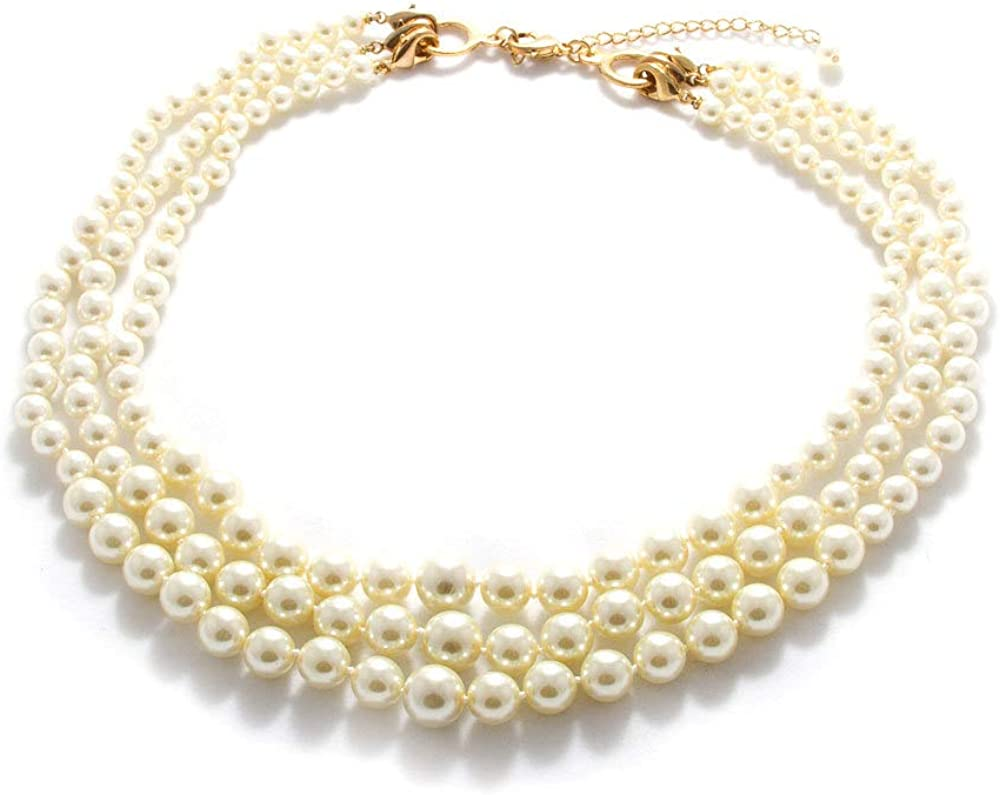 LookLove Womens Jewelry Three Removable Necklace excellence Strand We Bombing free shipping Pearl