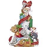 Moments précieux WE Wish You a Merry Christmas Chats et Souris Arbre à LED Boîte à Musique