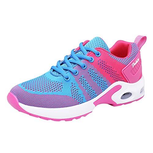 Modaworld Arbeitsschuhe Stahlkappe Damen Sicherheitsschuhe Leicht Atmungsaktiv Schutzschuhe Sportlich Turnschuhe Trekking Schuhe Traillaufschuhe