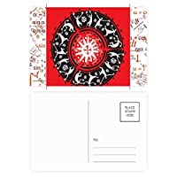 青空の美しい白いタンポポ 公式ポストカードセットサンクスカード郵送側20個