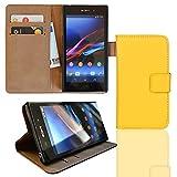 EximMobile Funda con tapa para Sony Xperia Z Ultra, color amarillo