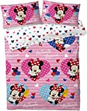 Disney® Minnie Mouse'Love Hearts' - Set copripiumino matrimoniale