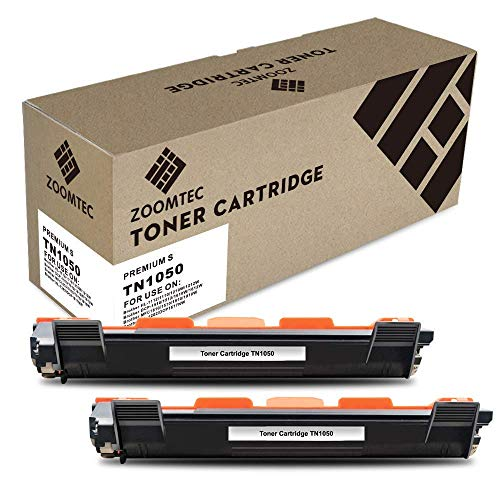 ZOOMTEC TN1050 tonercartridge compatibel met Brother HL-1110 HL-1112 HL-1210W HL-1212W DCP-1510 DCP-1512 DCP-1610W DCP-1612W MFC-1810 MFC-1910 MFC-1910W 2 Pack zwart