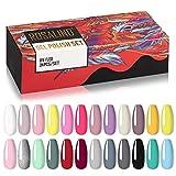 ROSALIND Esmaltes Semipermanentes de Pastel Uñas, 24 Colores Pintauñas Permanente Kit de Esmaltes de Uñas en Gel UV LED 7ml, para el hogar y el salón