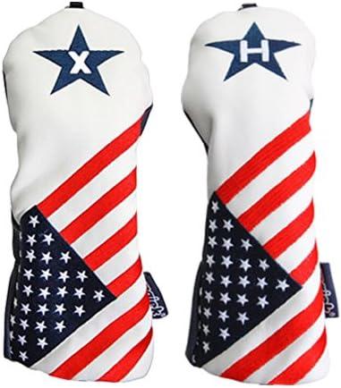 USA X H Headcover Patriot Retro Vintage Patriotic Golf Charlotte Genuine Free Shipping Mall Fairway