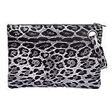 TENDYCOCO Clutch Pochette, Donna Moda Pochette Borse a Tracolla Piccolo Cerniera Sacchetto del Portafoglio con Tracolla Leopardo