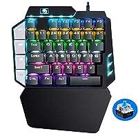左手 クールなゲーミングキーボード片手メカニカルPUGBモバイルゲームの左手ラップトップコンピューター