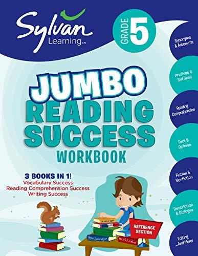 5th Grade Jumbo Reading Success Workbook: 3 Books in 1-- Vocabulary Success, Reading Comprehension Success, Writing Success; Activities, Exercises & ... Ahead (Sylvan Language Arts Jumbo Workbooks)