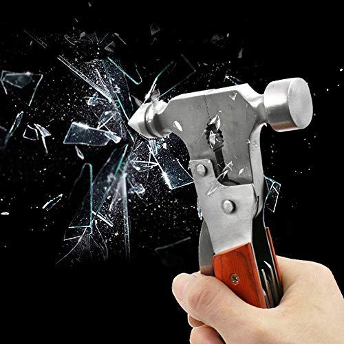 Veiligheid Hammer Multi-Functie Plier Mes Bijl Schroevendraaier Raam Sleutelhanger Auto Raam Gebroken Noodgeval Glas Breaker Tool Axe Hammer