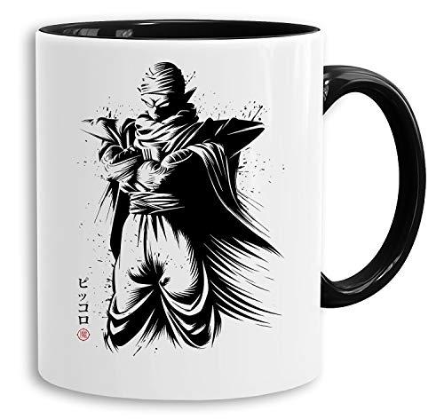 Piccolo - vaso cafetera regalo Mug Son Ruffy Luffy Zoro Saitama One Dragon Master Goku Ball Vegeta Roshi Piece Db, Farbe2:Blanco