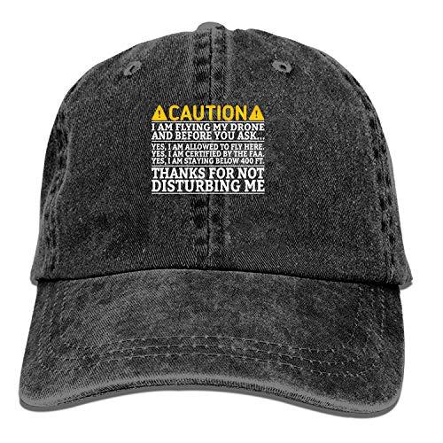 LUXNG Baseball Cap-Grappige Voorzichtigheid Ik vlieg Mijn Drone Cowboy Hoeden voor Heren Vrouwen Pa, Sport Baseball Caps
