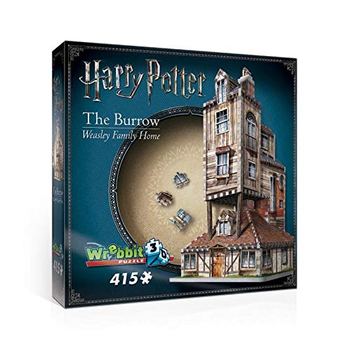 Wrebbit3D Harry Potter (TM) The Burrow Weasley Family Home 415 Stücke 3D Puzzle