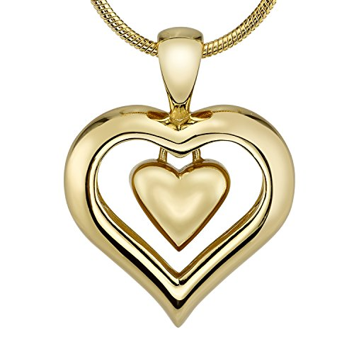The Eternity Heart 18kt Gold Finish Cremation Jewelry