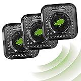 ISOTRONIC Ahuyentador de ácaros e insectos con ultrasonidos | Elimina ácaros del colchón con ultrasonidos | Repelente ultrasónico de ácaros / chinches de cama / insectos | Eléctrico (230 V) | Set de 3