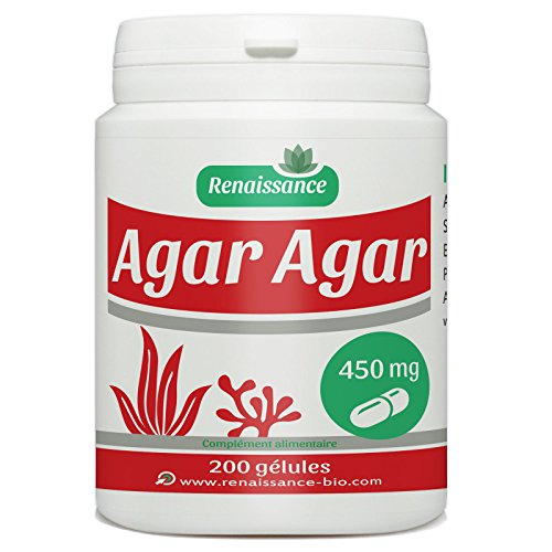 Bote de 200 cápsulas de agar agar, 450 mg