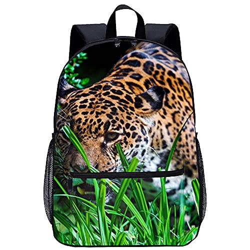 KKASD Sac à dos de voyage de mode d impression 3D léopard des steppes Sacs à dos de randonnée en plein air pour enfants pour femmes 45x30x15cm Sac d école pour enfants