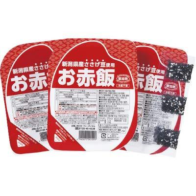 お赤飯3個組・ごま塩付