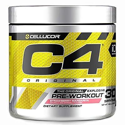 C4 Original Pre Workout Powder Strawberry Margarita | Sugar Free Preworkout Energy Supplement for Men & Women | 150mg Caffeine + Beta Alanine + Creatine | 30 Servings