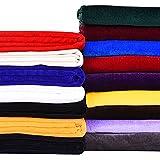 Magfyly - 10 metros de largo tejido de terciopelo de oro, cortinas, sofás, telas de decoración interior, artesanía, patchworks (color rojo)