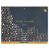 Boxclever Press 'Home Planer' calendario pared (en alemán). Calendario 2021 pared con mucho espacio. Planificador mensual con 16 meses comienza ahora y se extiende hasta diciembre'21.