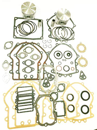 Engine Rebuild Kit For Opposed Twin Cylinder Briggs & Stratton Engines 16hp-18hp Standard Bore Includes Gaskets, Seals, Rings And Pistons Models That Start With Either 40 Or 42 In The Model Number