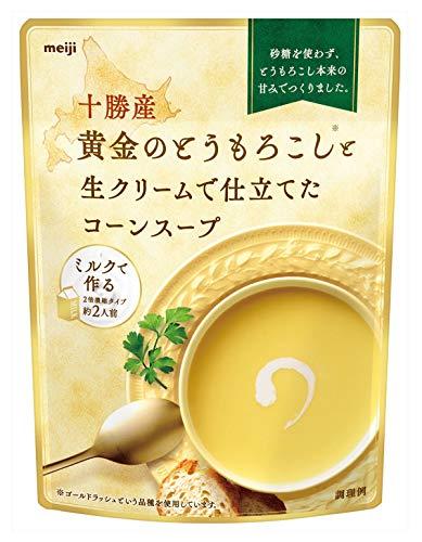 明治 十勝産黄金のとうもろこしと生クリームで仕立てたコーンスープ 180g ×8個