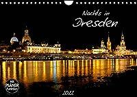 Nachts in Dresden (Wandkalender 2022 DIN A4 quer): Die Stadt Dresden nachts fotografiert. (Geburtstagskalender, 14 Seiten )