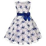 Cichic - Vestito da bambina elegante da principessa, per matrimoni, compleanni, stile formale, 2-10 anni Baby Blu 4-5 Anni