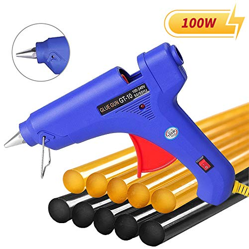 Manelord Glue Gun - 100W Hot Glue Gun with 10Pcs High Adhesion Hot Glue Sticks for Car Dent Repair,...