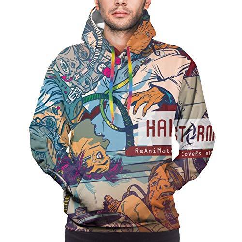 Shichangwei Fashion Man Full-Size Print Hooded Winter Drawstring Long Sleeve Sweatshirt Gr. XX-Large, Halestorm-14