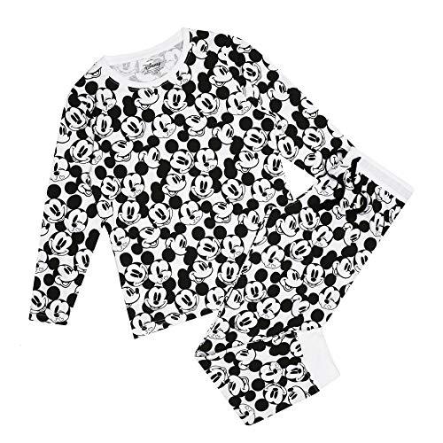 Disney Mickey Mouse Monochrome Pyjama Set Ensemble de Pijama, Multicoloured, 16 Taille Normale Femme