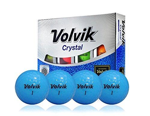 Volvik Crystal Blue 3-Piece Premium Golf Balls