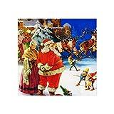 Tamengi Impresión artística de Santa Mrs Claus en el Polo Norte Nochebuena, 40,6 x 40,6 cm, lienzo para pared, sin marco, carteles para sala de estar, dormitorio, decoración de oficina
