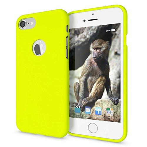NALIA Funda Neon Compatible con iPhone 7, Carcasa Protectora Movil Silicona Ultra-Fina Gel Bumper, Ligera Goma Cubierta Cobertura Delgado Telefono Cover Smart-Phone Case, Color:Amarillo