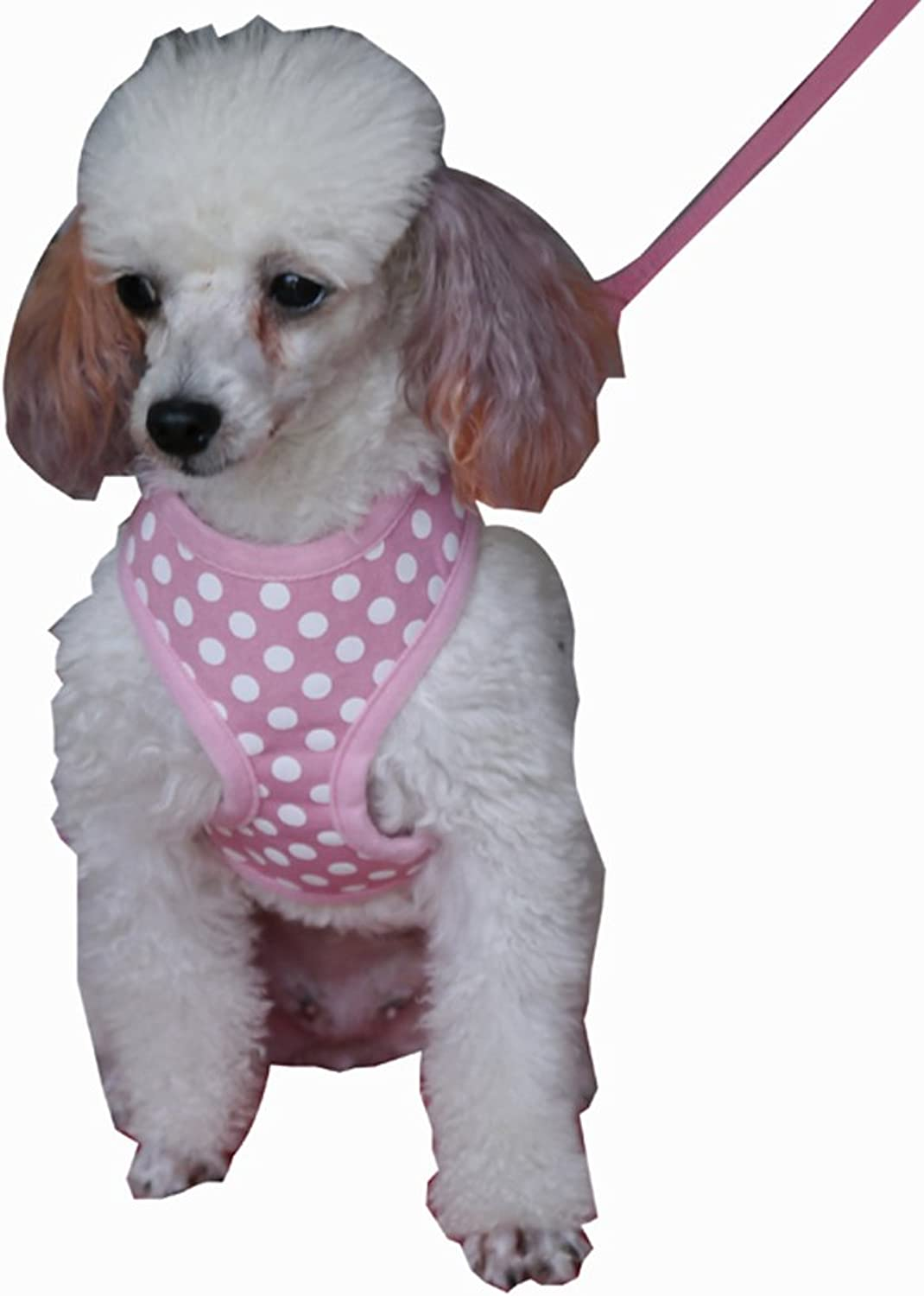 Fashion Shop Pet Dog Harnesses with Cute Antinode Printing Adjustable Extra leash for free (Pink, L 215cm)