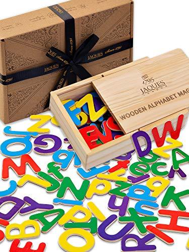Jaques Von London magnetbuchstaben - holzmagnete für Kinder und perfekt Spielzeug ab 2 3 4 Jahre - kühlschrankmagnete Kinder EIN großer holzspielzeug