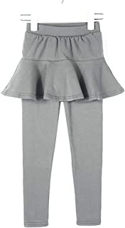 birbyrrly Girls' Footless Skirted Leggings Fleece Lined & Thin 2T - 10 Years
