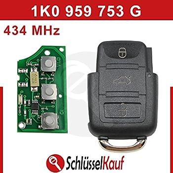 Platine 433Mhz Transponder ID48 Chiavi 1K0 959 753 G Autoschl/üssel Schl/üssel Fernbedienung Funkschl/üssel Geh/äuse INION 1x Ersatz Klappschl/üssel Schl/üsselgeh/äuse 3 Taste Rohling HAA//HU66