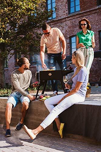 51riebBmOBL - Gizzo Grill und Zubehör | Tragbarer und Klappgrill Holzkohle-Grill für Camping, Travel, Vanlife, Transportabler Grill, Garten und Outdoor BBQ Grill-Spaß
