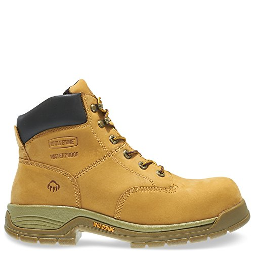 WOLVERINE Harrison Waterproof Lace-Up Steel-Toe 6' Work Boot Men 11 Wheat
