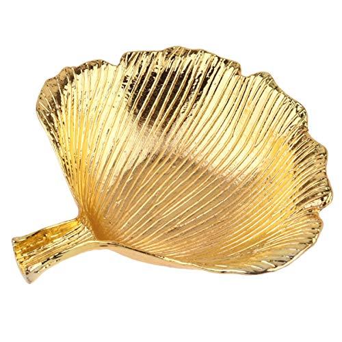 Wakauto Blattgold Geformte Kleine Schmuck Ringschale Blattgold Trinkle Teller Schmuck Tablett Platte Dekorative Platte für Halskette Ohrringe Ringe Armband Tablett Veranstalter