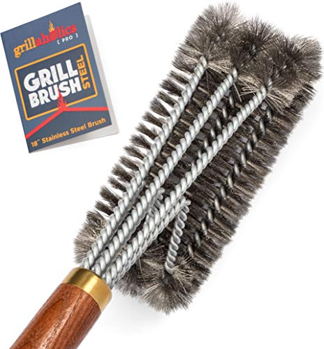 Buy Cheap Grillaholics Pro Grill Brush Steel - Triple Machine Tested for Safety - Wire Grill Brush f...