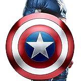 Marvel Escudo Capitan America Metal Accesorios De Mano con Escudo De Réplica De La Serie Miracle Legend Textura De Metal 1: 1 Decoración para Colgar En La Pared De La Barra 18.7in