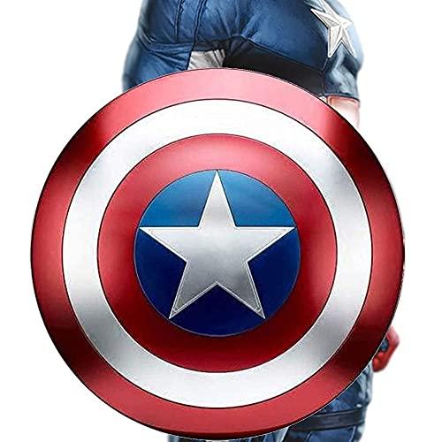 COKECO Marvel Scudo di Capitan America dello Scudo della Replica della Serie Miracle Legend Struttura in Metallo 1: 1 Decorazione da Appendere alla Parete della Barra 18.7in
