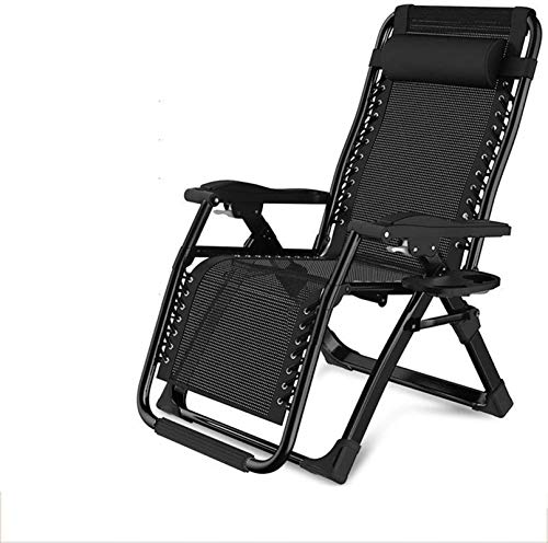 TUHFG Sillones reclinables para uso libre, reclinables cero, reclinables, para playa, hogar, jardín, balcón, multifunción, 2