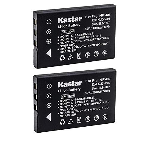Kastar 2-Pack Battery NP-60 NP60 for HP Photosmart R607 R837 R937 R07 R507 R707 R717 R725 R727 R817 R818 R827 R847 R926 R927 R967 Cameras and Hewlett Packard A1812A L1812A