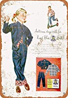 1954キッズコレクティブルウォールアート用ブルーベルジーンズ